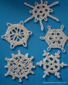 vintage crochet snowflake