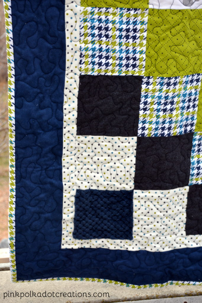 baby boy flannel quilt
