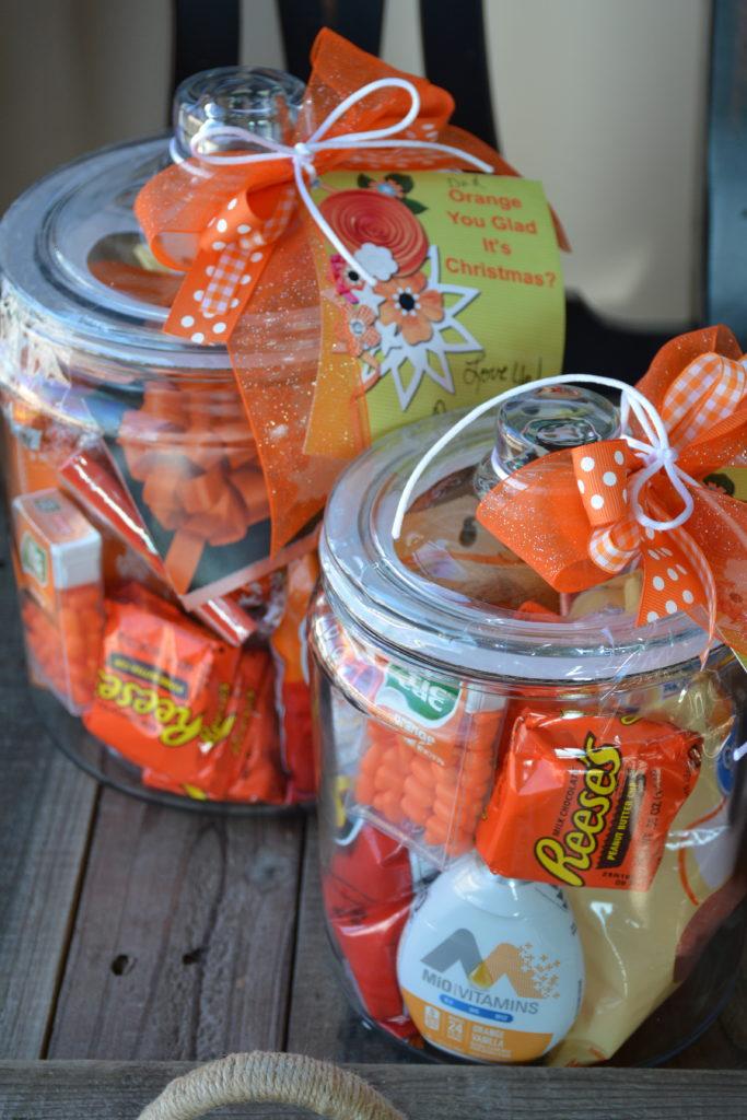 orange Christmas jars