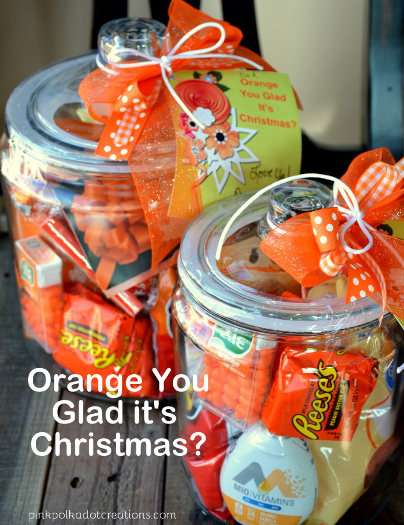 orange Christmas jars