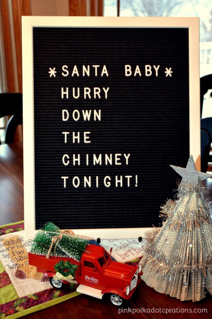 Santa Baby Letter Board