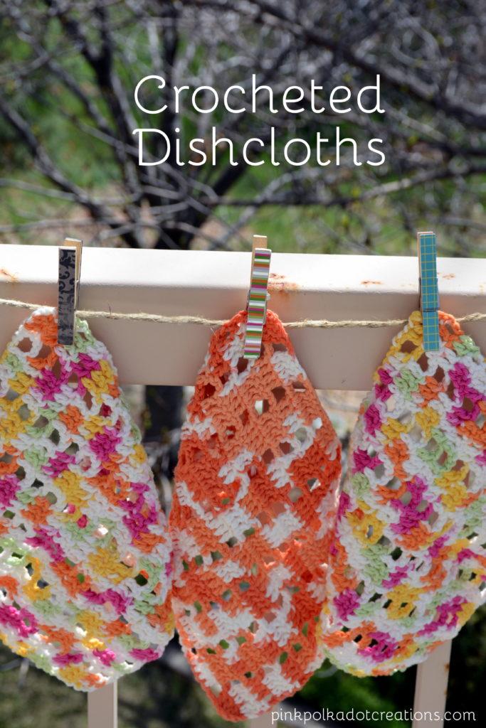 Crochet Dishcloth Pattern Pink Polka Dot Creations