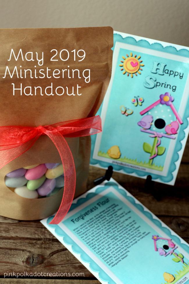 May 2019 Ministering Handout - Pink Polka Dot Creations