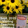 Sept. 2015 Visiting Teaching Handout