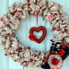 Burlap and Lace Valentine Wreath