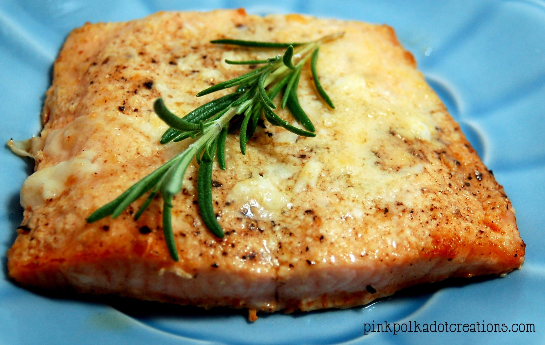 Parmesan Crusted Salmon - Pink Polka Dot Creations