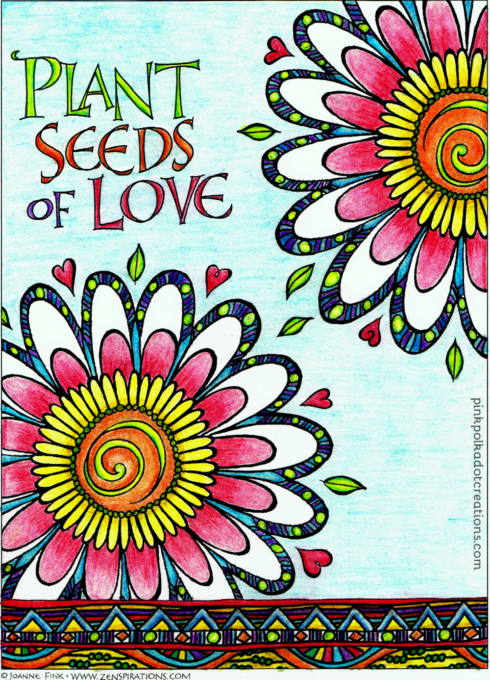 Plant Seeds Of Love Pink Polka Dot Creations